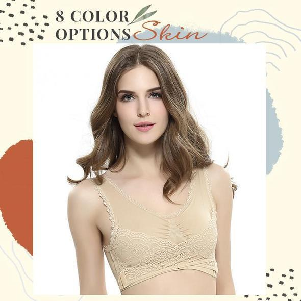 Adjustable Front Strap Push-Up Lace Bra
