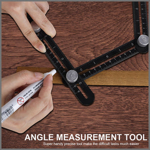 Multi-angle Measuring Ruler With Woodworking Drilling Locator