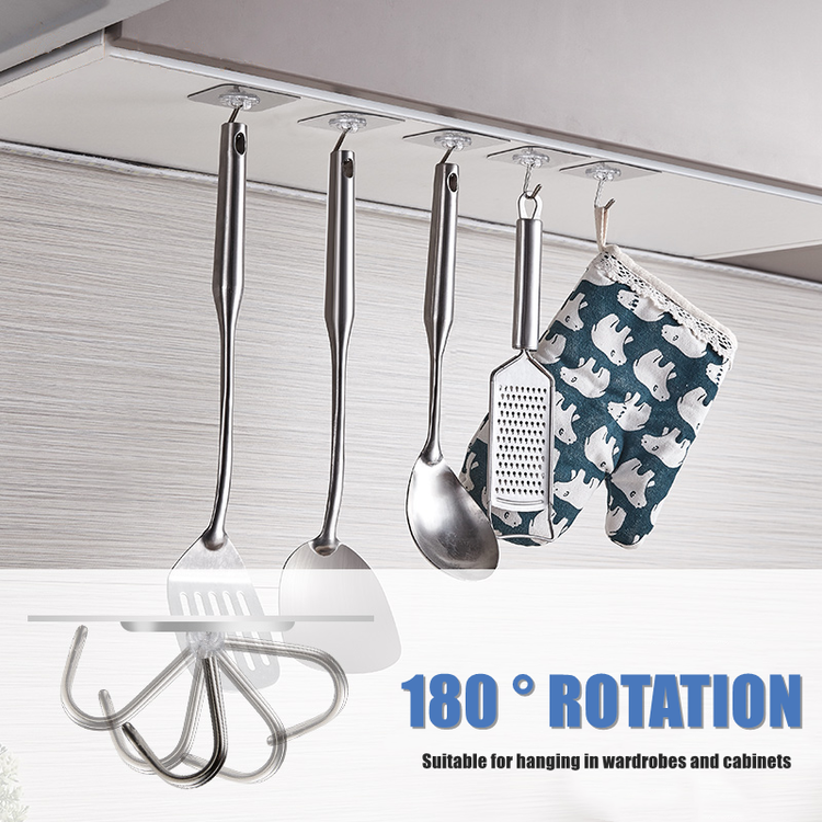 Reusable Adhesive Hooks (10 Pcs Set)