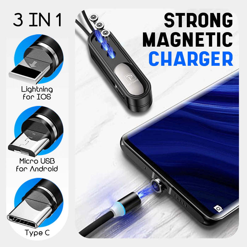 3 in 1 Magnetic Mini Phone Charger Cable