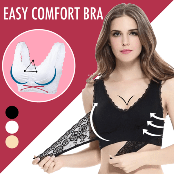 Front Cross Wireless Lace Lift Comfort Bra