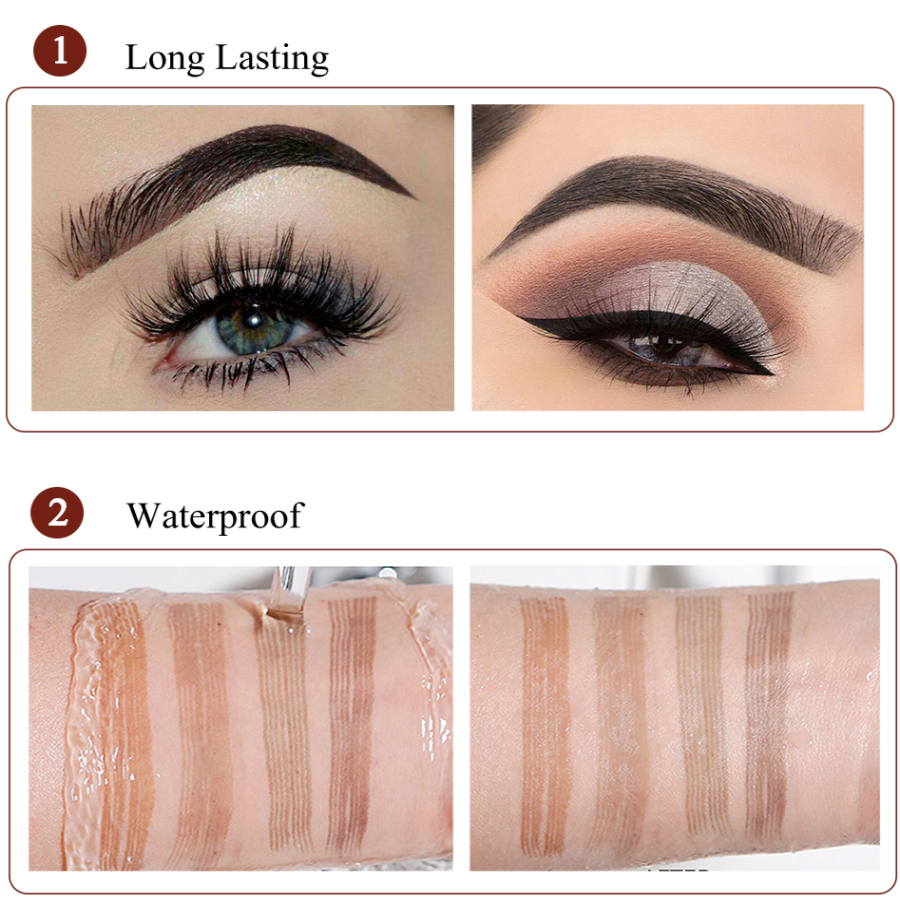 LineBrow Ultra-Fine 4-Tip-Head Long-Lasting Waterproof Microblading Natural Eyebrow Pen