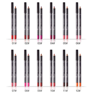 12 Colors Water Proof Lip Liner Pencil