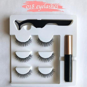 Magnetic Eyelashes and Eyeliner Set (3 Pairs)