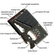 Credit Card Multifunctional Pocket Knife - TheBackpackSupply -