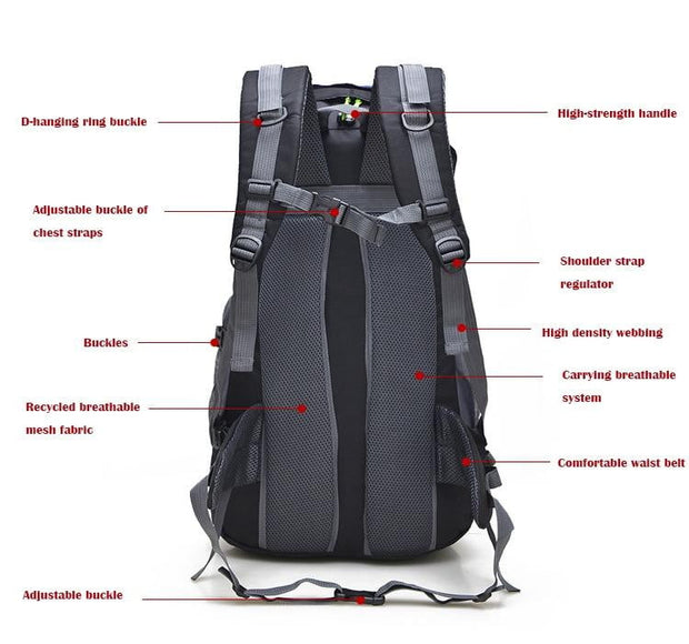 50L Waterproof Hiking Backpack - TheBackpackSupply -