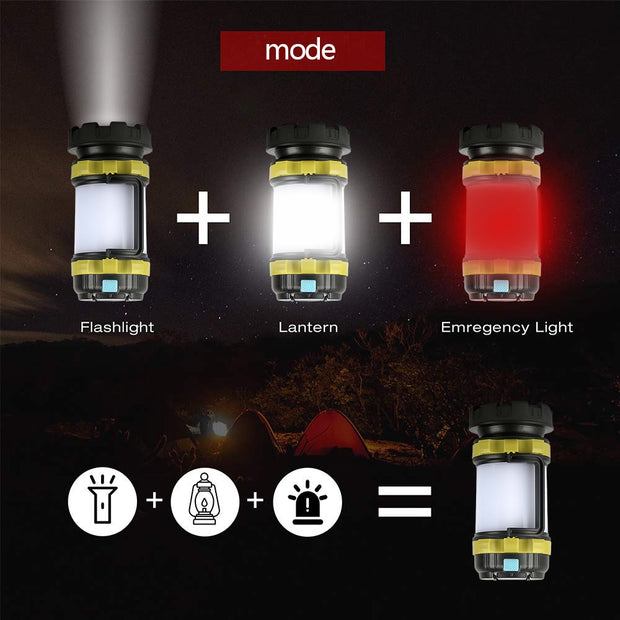 LED Camping Light USB Rechargeable Flashlight - TheBackpackSupply -