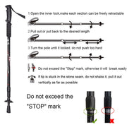 Adjustable Trekking Poles 2pcs - TheBackpackSupply -