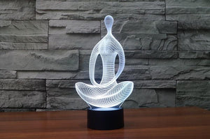 3D LED Meditation Lamo