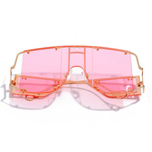 Oversized Mirror Reflection Sunglasses