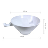 Separated Cereal Bowl With Handle