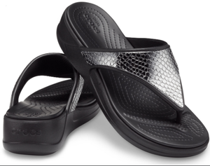MONTEREY METALLIC WEDGE FLIP BLACK