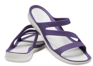 CROCS SWIFTWATER SANDAL MULBERRY/PEARL WHITE