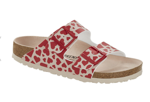 Arizona Birko-Flor in Hearts Red(Narrow)