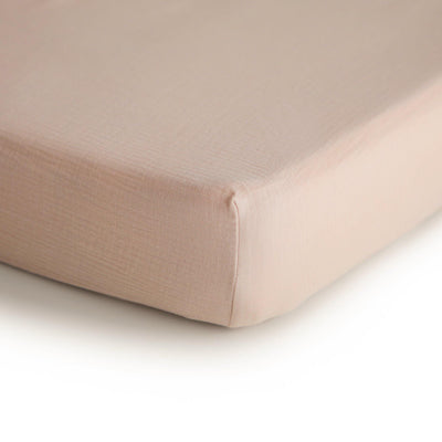 Mushie Crib Sheet Blush
