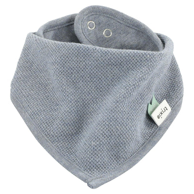 trixie bandana bib grain blue