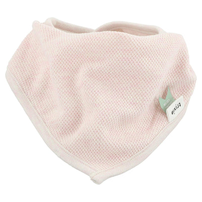trixie bandana bib grain rose