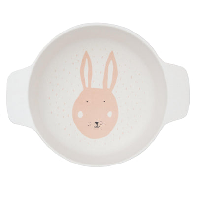 trixie kids bowl with handles mrs. rabbit
