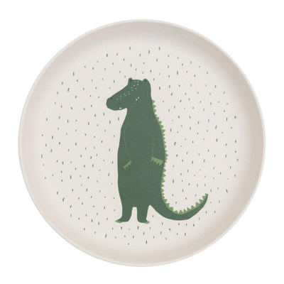 trixie kids plate mr. crocodile