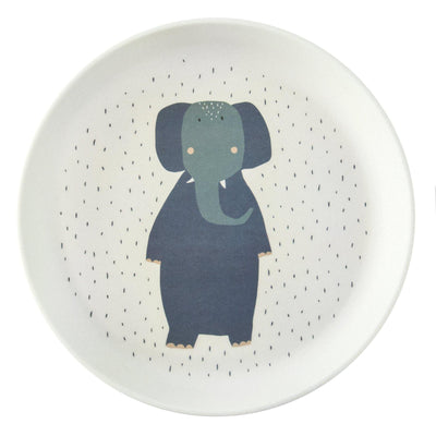 trixie kids plate mrs. elephant