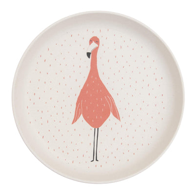 trixie kids plate mrs. flamingo