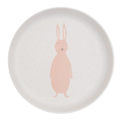 trixie kids plate mrs. rabbit