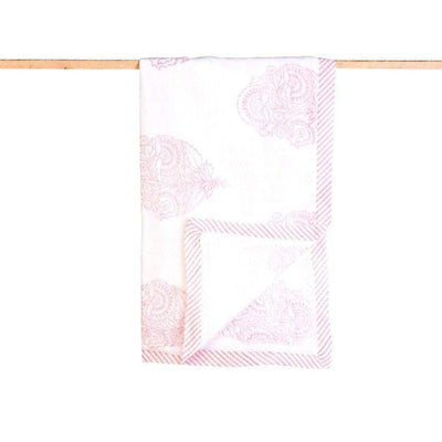 Organic Cotton Receiving Blanket - Pink City