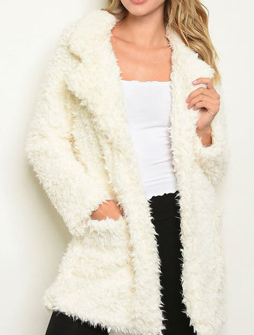 Faux Fur Coat {S-L}