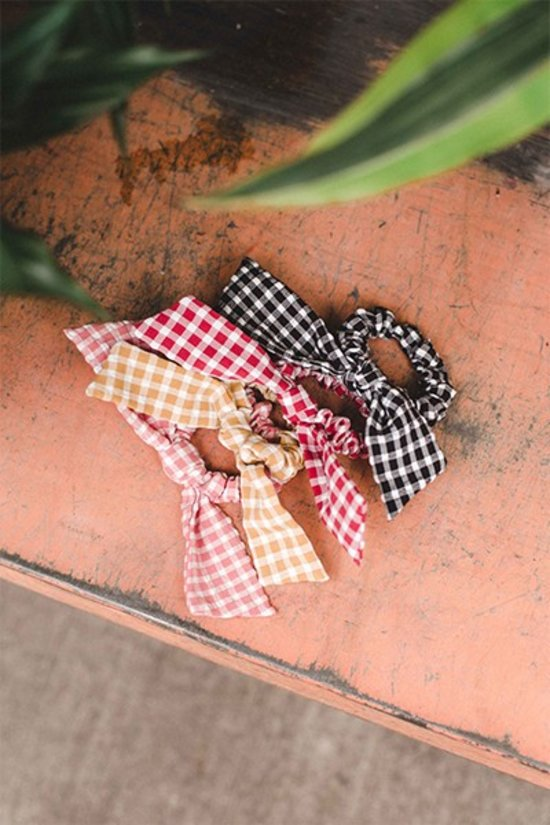 Gingham Scrunchie ~ 5 colors