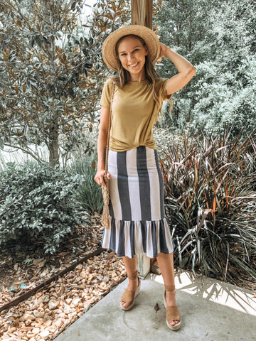 Sami Stripe Skirt {S-XL}