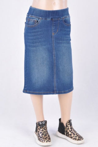 Girls Denim Skirt - Indigo Wash