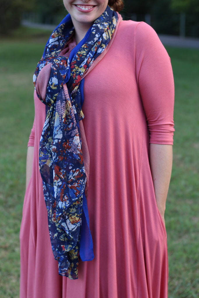 Scarf ~ Floral {5 colors}