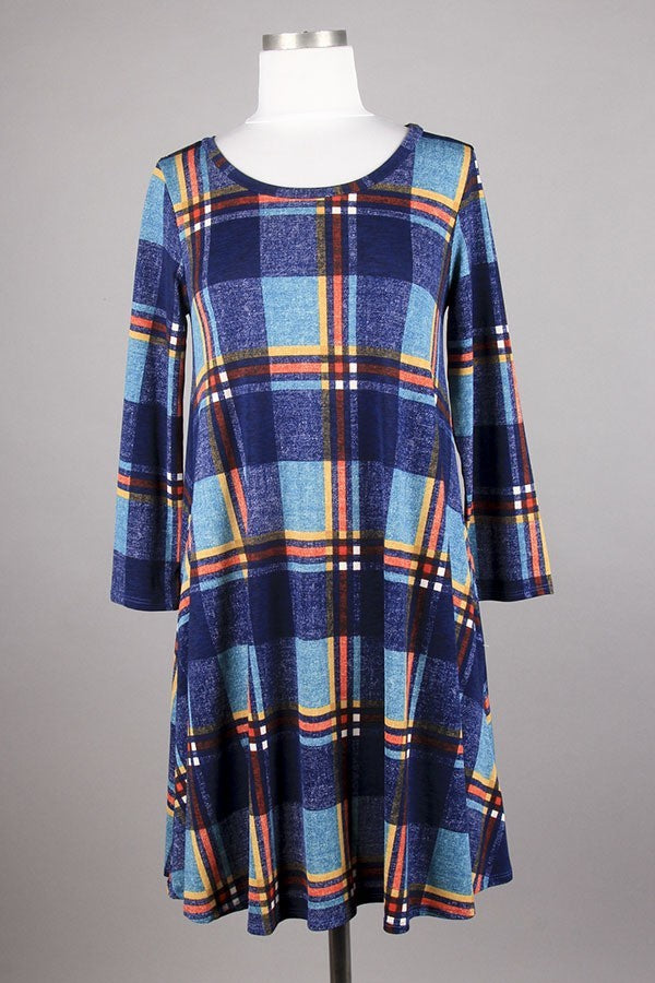 Plaid Tunic in Blue {S-L}