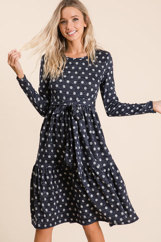 Avery Dress in Navy (S-L)