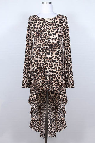 Leopard High-Low Top {S-3X}