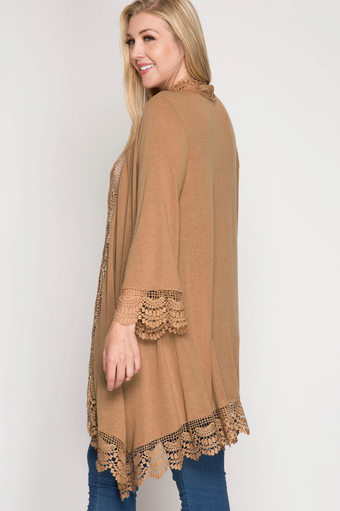 Long Cardigan - Taupe