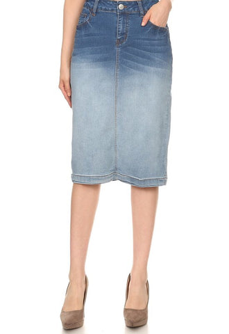 "Ombré Denim Skirt - 26"" (S-3XL)"