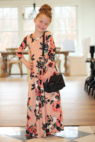 Claire Maxi Dress for Girls in Blush {S-XL}