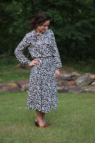 Everyday Leopard Dress (S-XL)