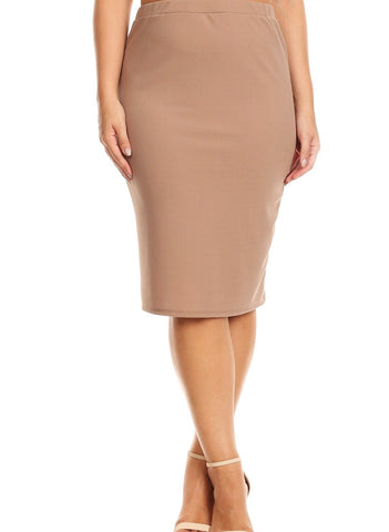 "Essential Skirt in Khaki - 27"" (S-L)"