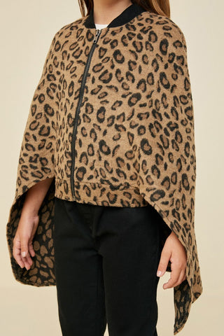 Girls Leopard Cape