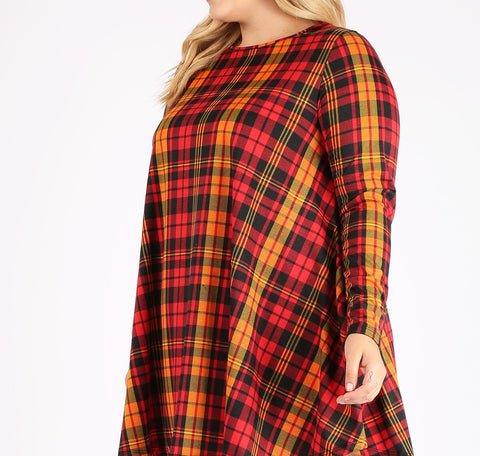 Autumn Plaid Tunic (1X-3X)
