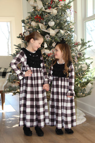 Girls Buffalo Plaid Dress (2-3y thru 14/16y)