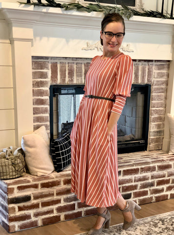 Jenny Striped Dress {S-XL}
