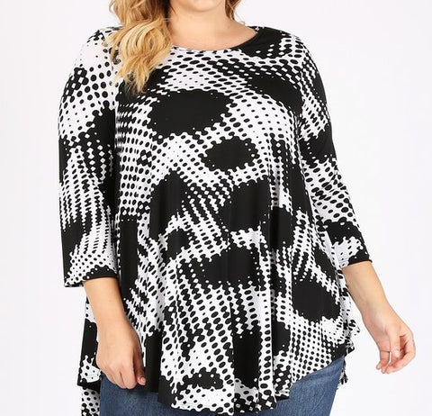 B&W Swing Top (1X-3X)