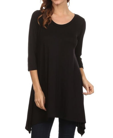 Black Asymmetrical Tunic (S-L)