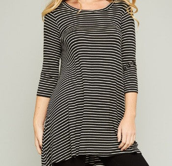 B&W Stripe Top