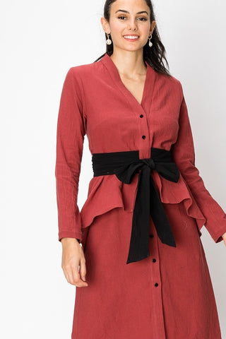Button Down Dress - 2 colors (S-L)