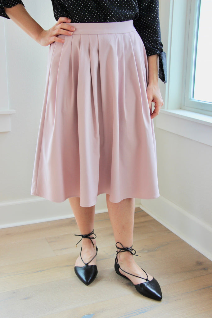 Jada Pleated Midi Skirt