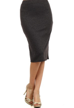 "Essential Skirt in Charcoal - 27"" (S-M-L)"